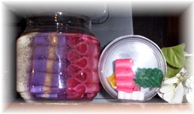 Ribbon Candy Candles