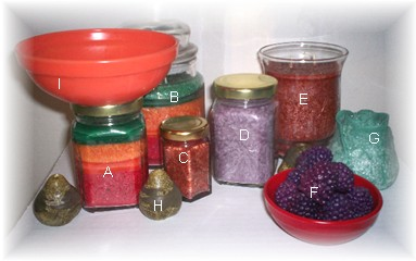Assorted Candles, Berry Bowls