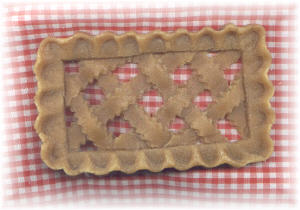 Country Lattice Cobbler Topper