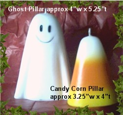 Candy Corn or Ghost Pillar Mold