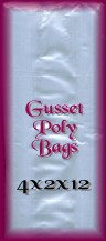 Clear Gusset Poly Bags