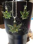 Marijuana Jewelry Set