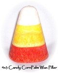 Palm Wax Candy Corn Pillar