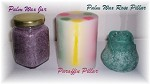 Embedded Pillar Candles, 4x4.5