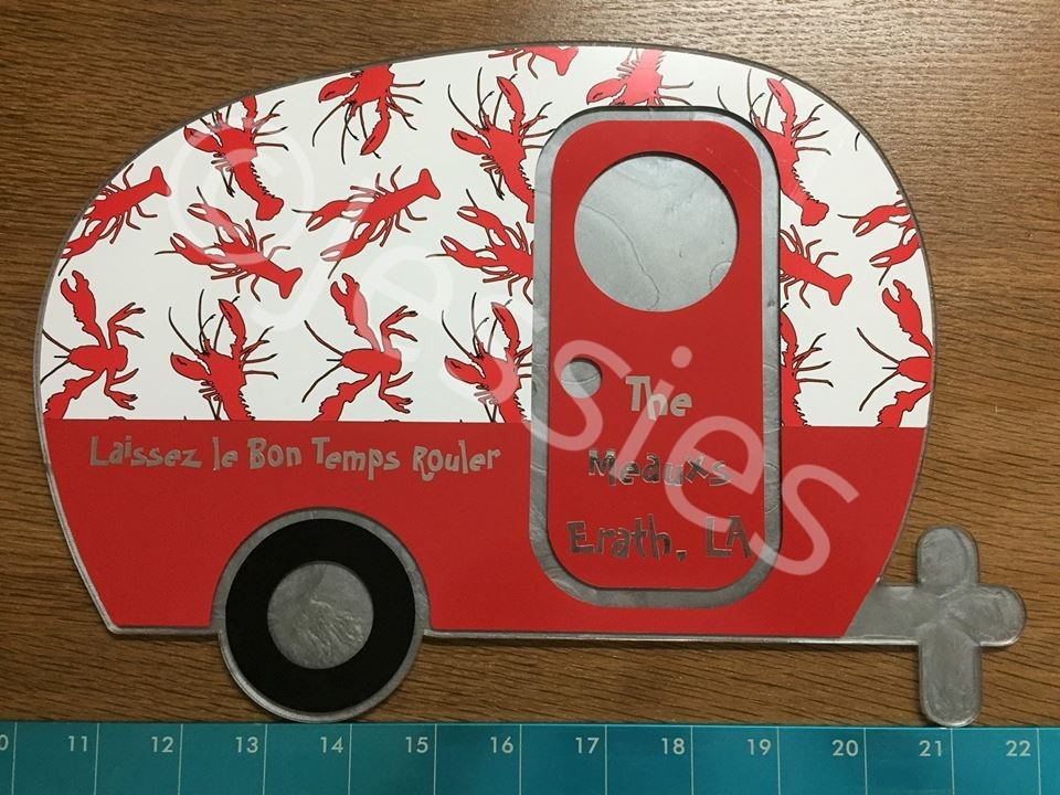 "12"" AcrylicCamper sign"