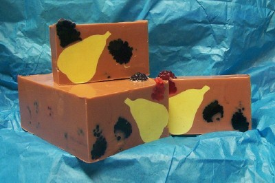 Pears and Berries Soap w/Embeds