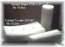 Large Folded Towel Candle